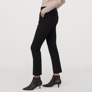 Black Elastic Slacks / Ankle Length Pants